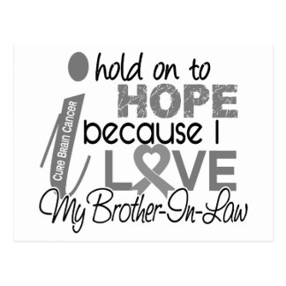 Hold On To Hope Brother-In-Law Brain Cancer Postcard