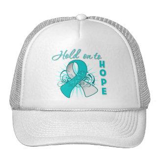 Hold On To Hope - Cervical Cancer Trucker Hat