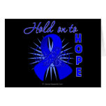 Hold On To Hope - Colon Cancer Greeting Card