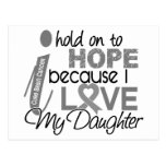 Hold On To Hope Daughter Brain Cancer Postcard