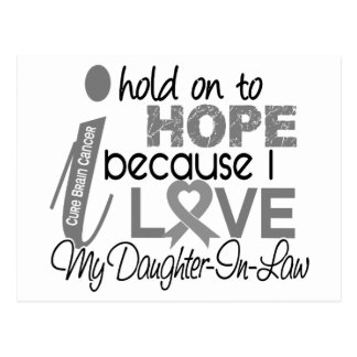 Hold On To Hope Daughter-In-Law Brain Cancer Postcard