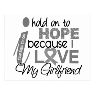 Hold On To Hope Girlfriend Brain Cancer Postcard