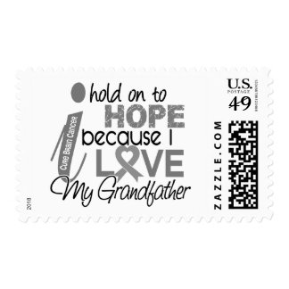 Hold On To Hope Grandfather Brain Cancer Stamps