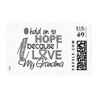 Hold On To Hope Grandma Brain Cancer Stamps