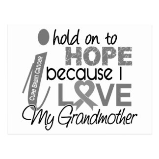 Hold On To Hope Grandmother Brain Cancer Postcard