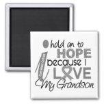 Hold On To Hope Grandson Brain Cancer Refrigerator Magnet