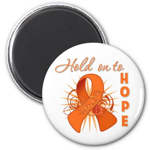 Hold On To Hope - Leukemia 2 Inch Round Magnet