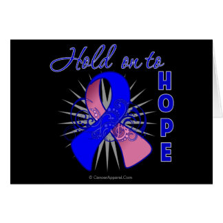 Hold On To Hope - Male Breast Cancer Greeting Card