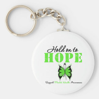 Hold on to Hope Mental Health Awareness Basic Round Button Keychain