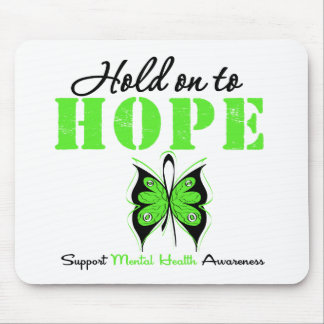 Hold on to Hope Mental Health Awareness Mouse Pad