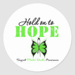 Hold on to Hope Mental Health Awareness Classic Round Sticker