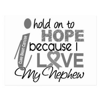 Hold On To Hope Nephew Brain Cancer Postcard