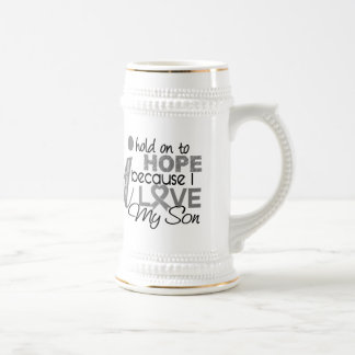 Hold On To Hope Son Brain Cancer Beer Stein