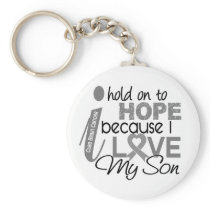 Hold On To Hope Son Brain Cancer Keychain