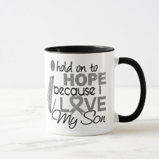 Hold On To Hope Son Brain Cancer Mug