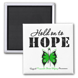Hold On To Hope Traumatic Brain Injury 2 Inch Square Magnet