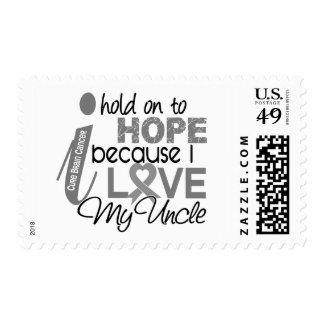Hold On To Hope Uncle Brain Cancer Stamp