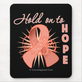 Hold On To Hope - Uterine Cancer Mouse Pad