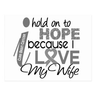 Hold On To Hope Wife Brain Cancer Postcard