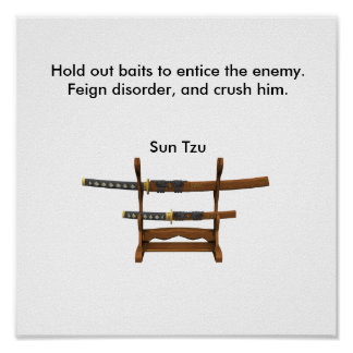 Hold out baits to entice the enemy poster
