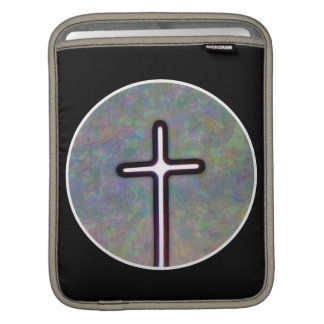 Hold the Light Inside Cross Circle iPad Sleeve
