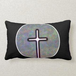 Hold the Light Inside Cross Circle Lumbar Pillow