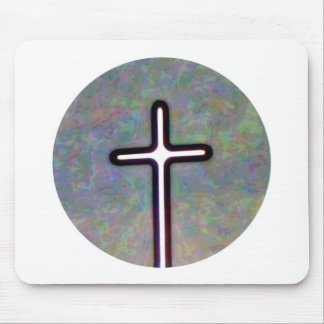 Hold the Light Inside Cross Circle Mouse Pad