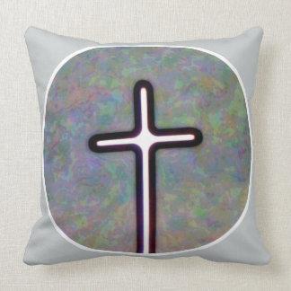 Hold the Light Inside Cross Circle Throw Pillow