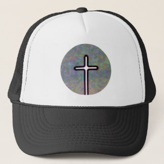 Hold the Light Inside Cross Circle Trucker Hat
