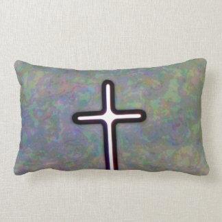 Hold the Light Inside Cross Lumbar Pillow