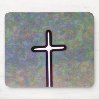 Hold the Light Inside Cross Mouse Pad