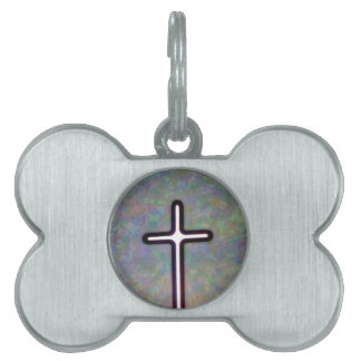 Hold the Light Inside Cross Pet Tag