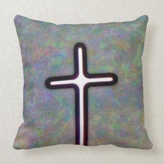 Hold the Light Inside Cross Throw Pillow