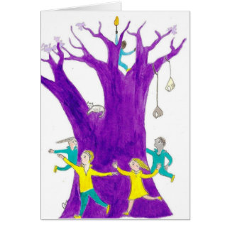 Hold the light up and dance! greeting card
