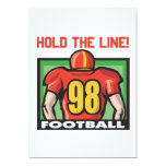 """Hold The Line 5"""" X 7"""" Invitation Card"""