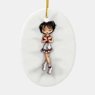 Hold Tight Ceramic Ornament