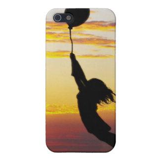 Hold Tight, girl, balloon, iPhone case
