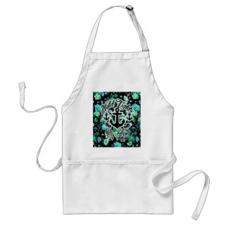 Hold Tight, Stay Strong Floral Nautical art. Adult Apron