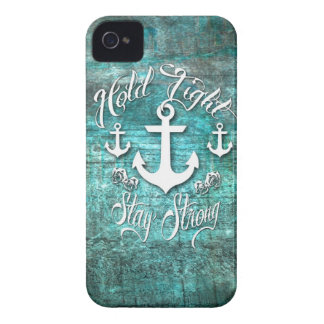 Hold Tight, Stay strong inspirational nautical art iPhone 4 Cover