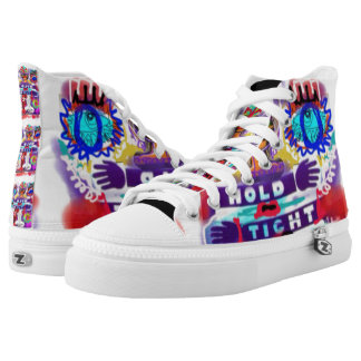 Hold Tight Urban West Philly High Tops Printed Shoes