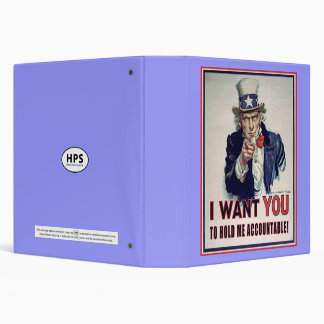 Hold Uncle Sam Accountable ~ Binder