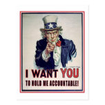 Hold Uncle Sam Accountable! Postcards