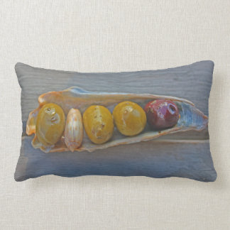 Holden Beach ~ Fun Sunset/Olive Shell Pillow