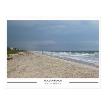 Beach Themed Holden Beach North Carolina Postcard