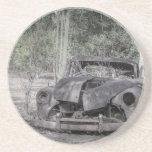Holden FJ Ute Car Lives Forever Coaster