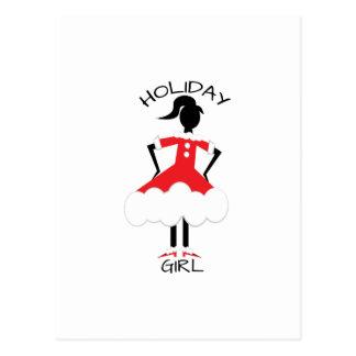 Holdiay Girl Postcard