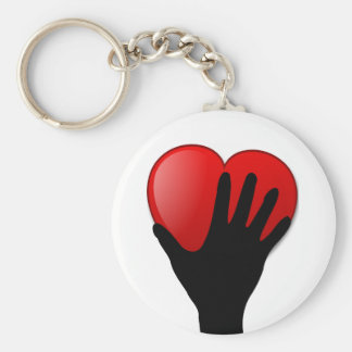 Holding A Heart Keychains