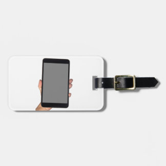 Holding a phablet bag tag