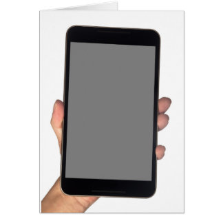 Holding a phablet card