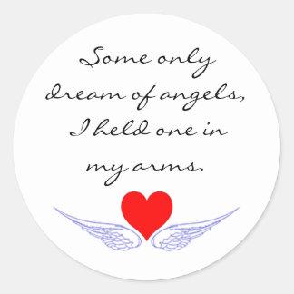 Holding angels sticker